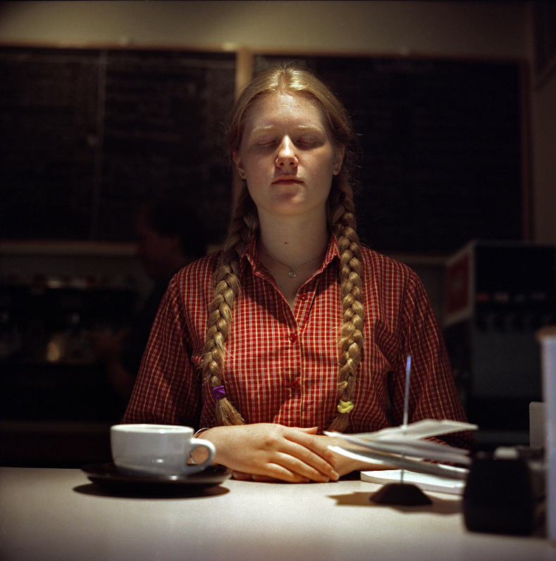 Elin O'Hara Slavick, Workers Dreaming, Emily Rollins, Waitress, Frostburg, MD, 2001