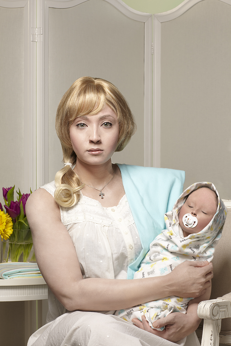 Stacey Tyrell, Ruth, 25yrs. and Baby Lillian, 3mos., from Backra Bluid series, 2013, Archival Epson Print, 30x40in.