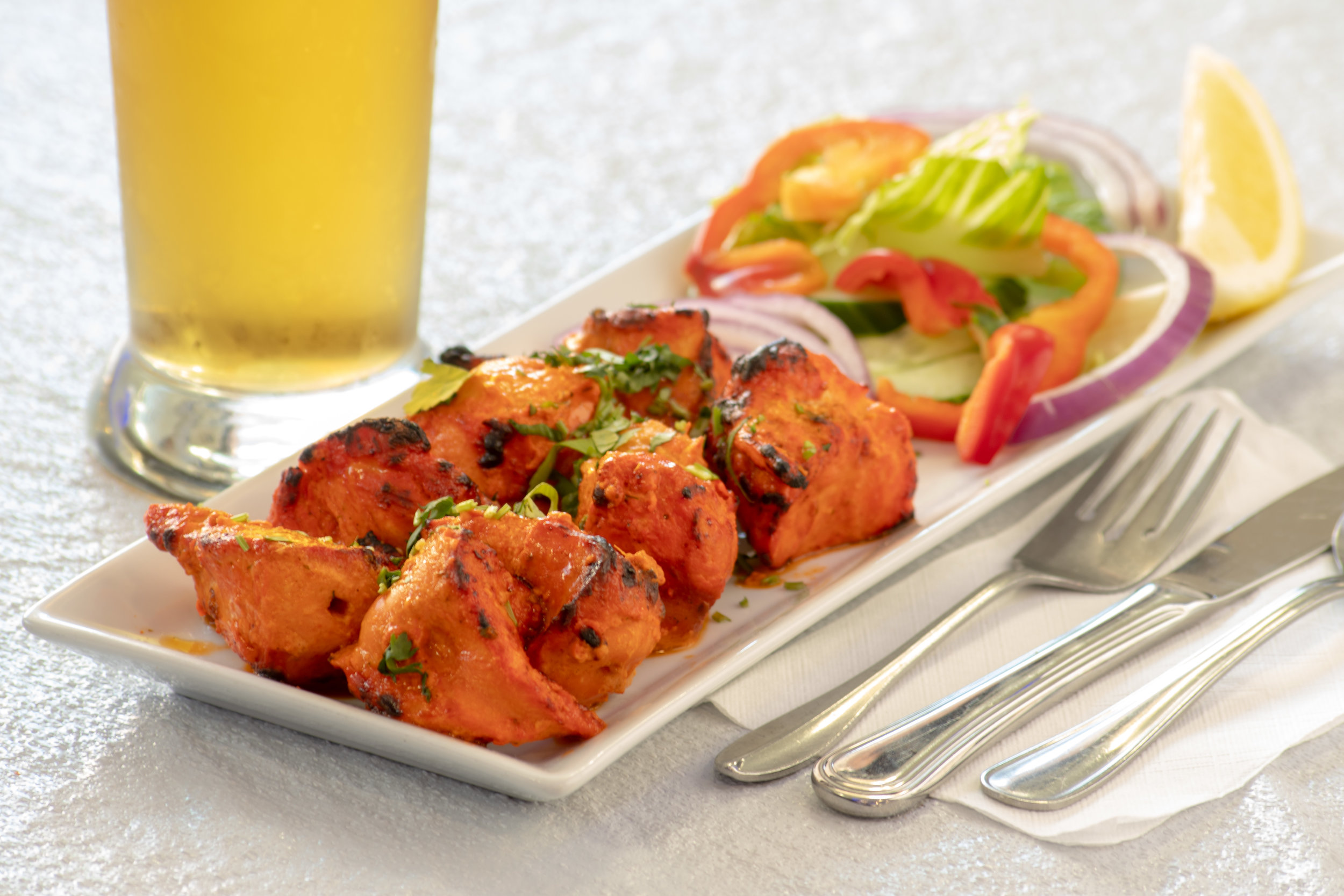Our famous home made Chicken Tikka