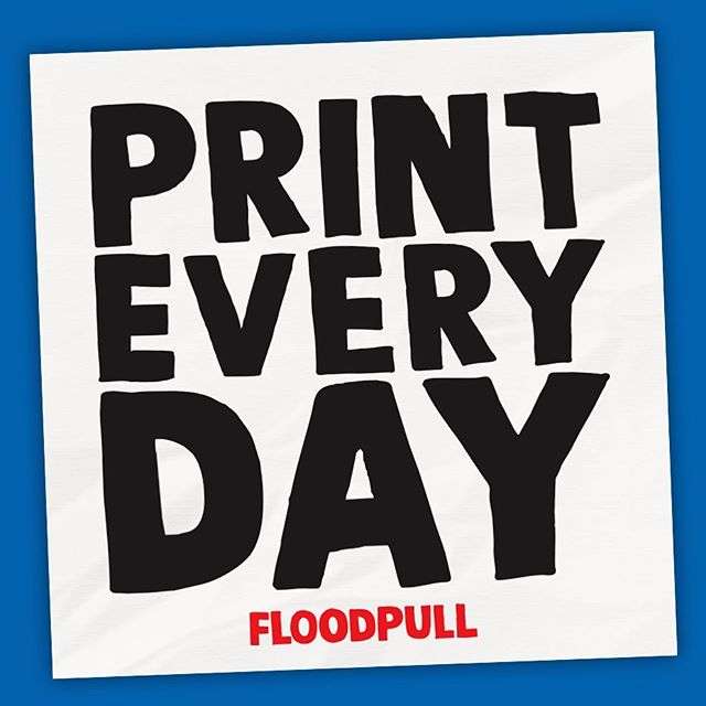 new stickers coming real soon! a good reminder to get your print on daily. I'll have them in hands within two weeks, so DM me your mailing address to get some! #screenprinting #silkscreen #floodpull #printeveryday