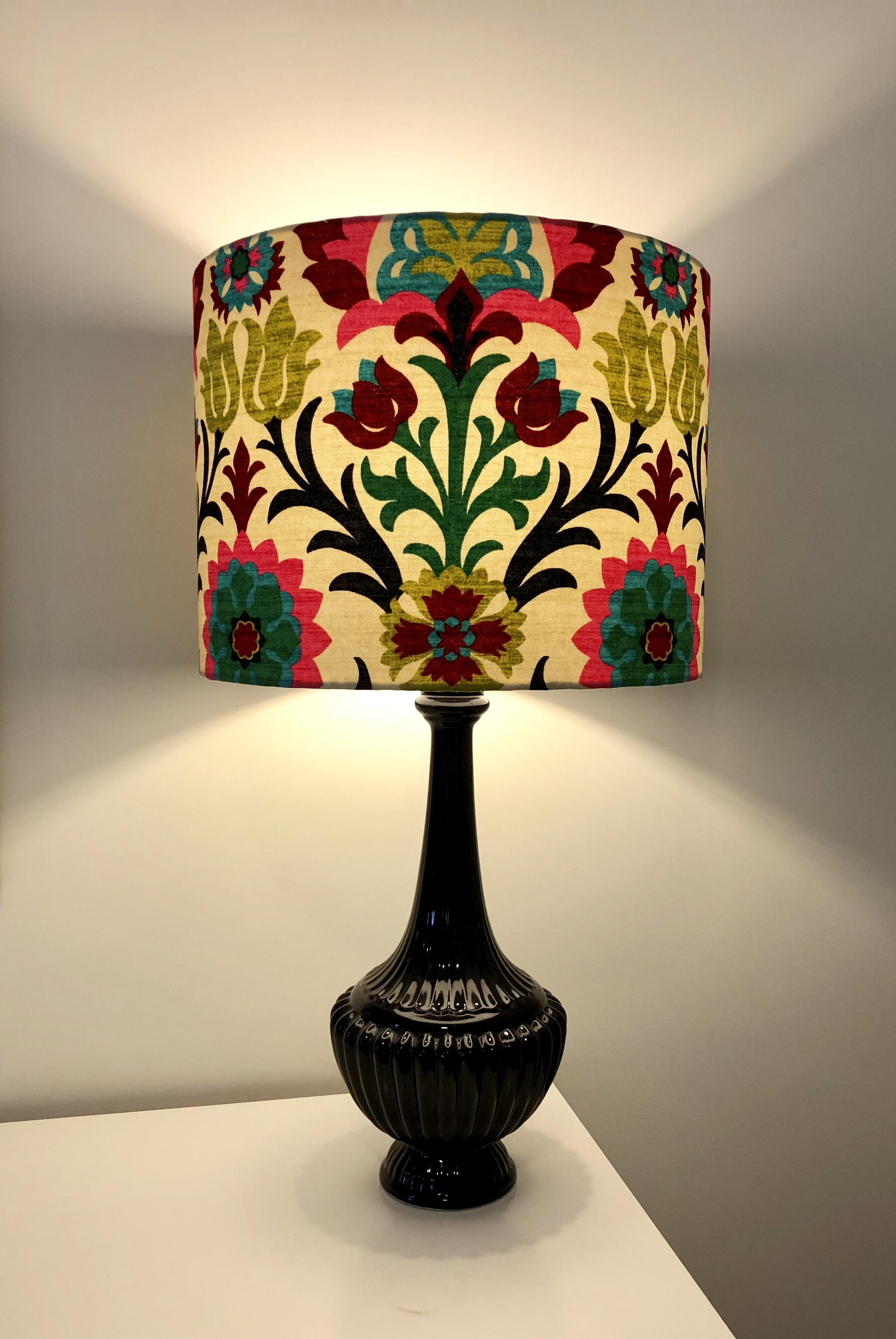 Lamp - Suzani with black base.JPG
