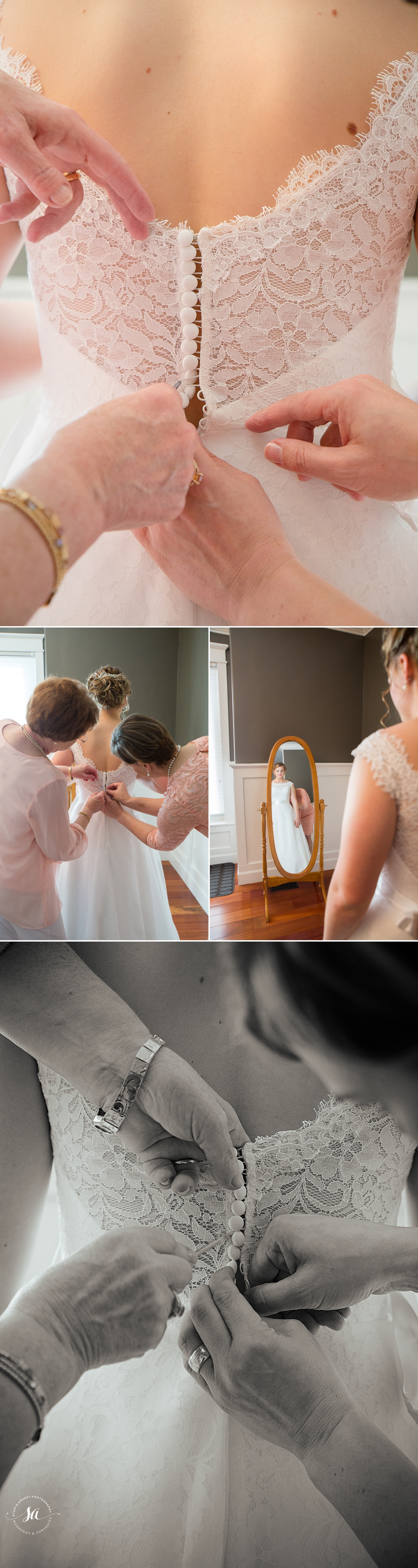 Love these detail shots of the dress buttoning. Great job Tomasina!