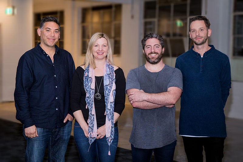 Paul Naphtali with AmazingCo co-founders Silvia Hope, Jeremy Cox and Nick Brozovic.