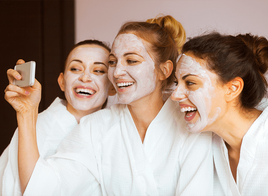 Hens Parties - Face masks and selfie.png