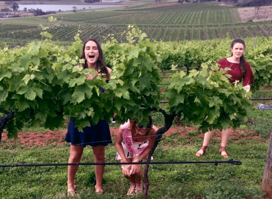 Hens Parties - Happy bride to be on wine tour.png