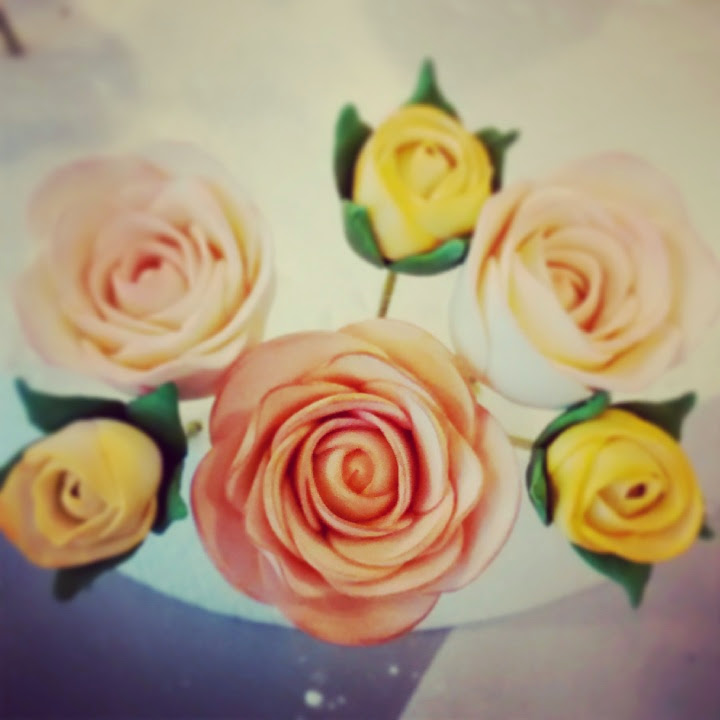 Hand-crafted sugar roses
