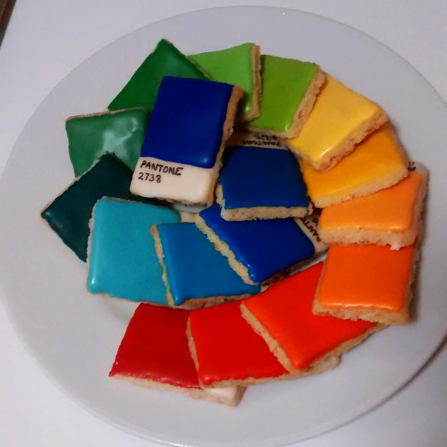 Pantone shortbread swatches
