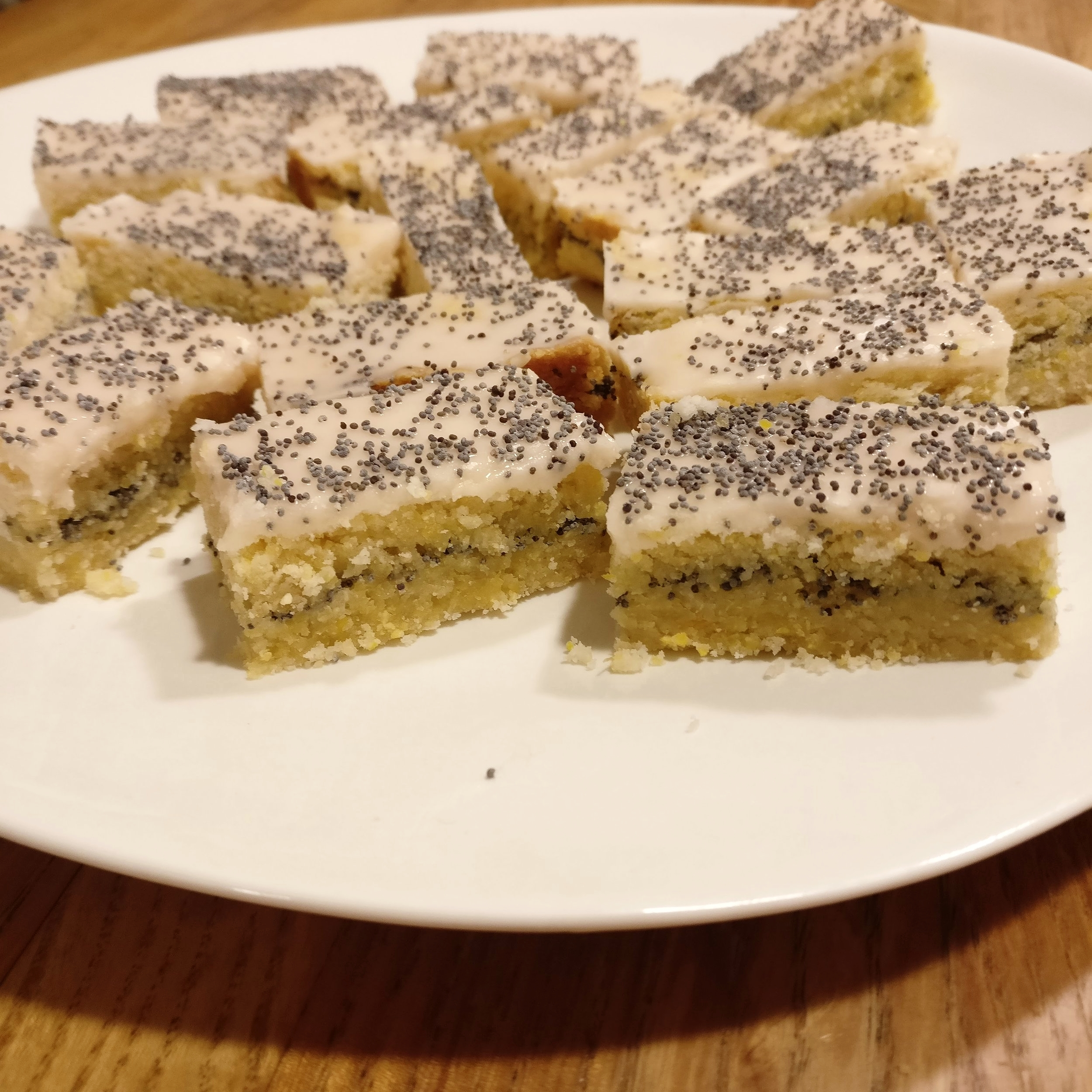 Grapefruit Polenta Poppy Seed Shortbreads
