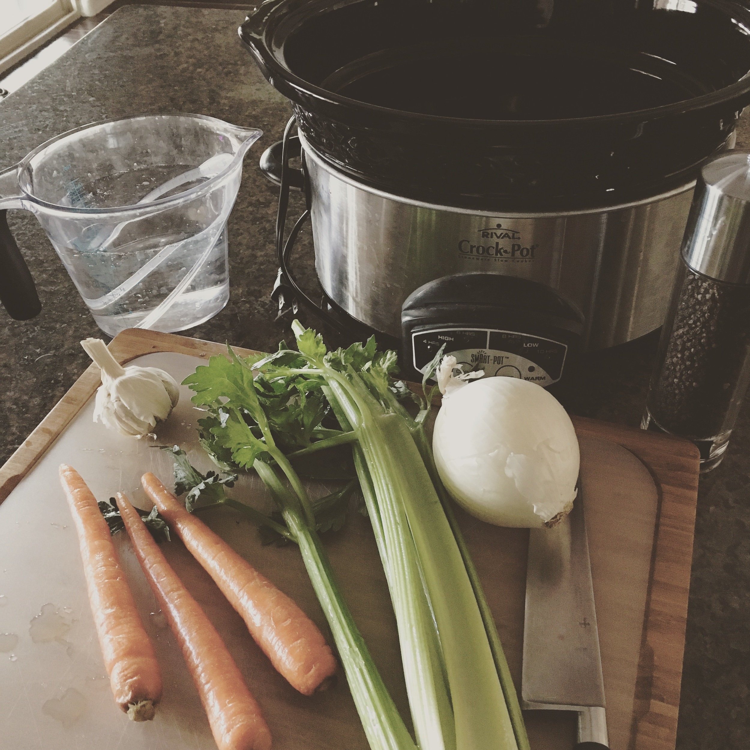 Getting prepped for a batch of bone broth.