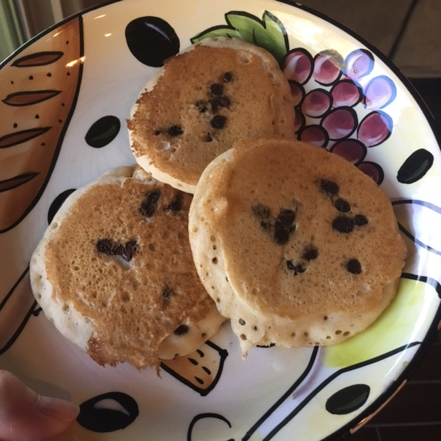 Our peanut butter chocolate chip pancakes