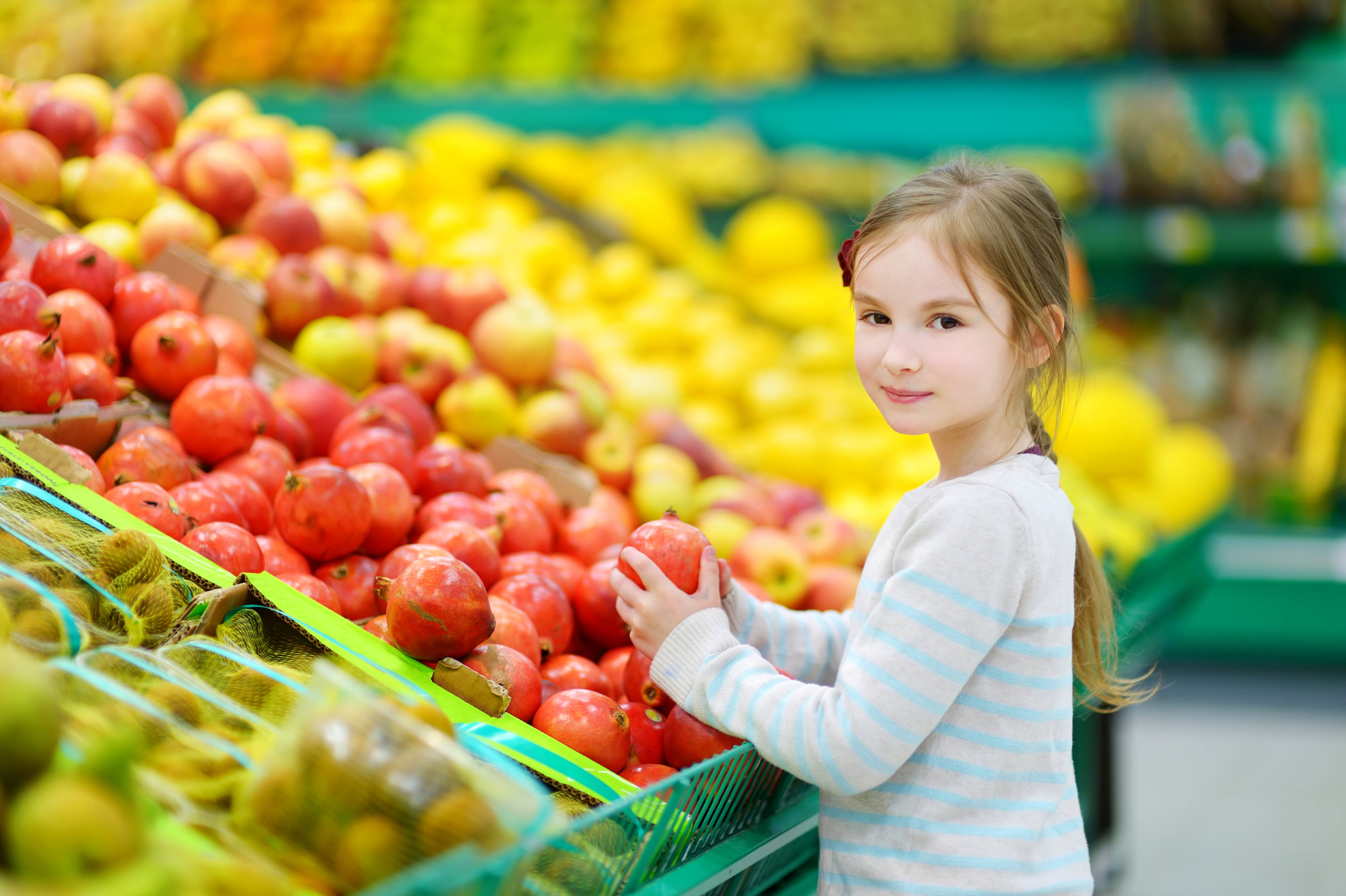 Bringing kids with you to the grocery store is an important part of cooking.
