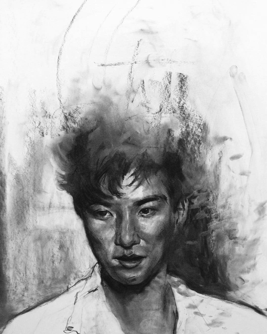 Zeb 歪仔 / 18x24 / Charcoal / 2015