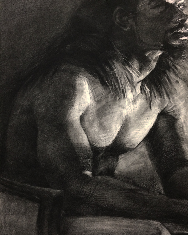 Portrait / 18x24 / Charcoal on Paper / 2015