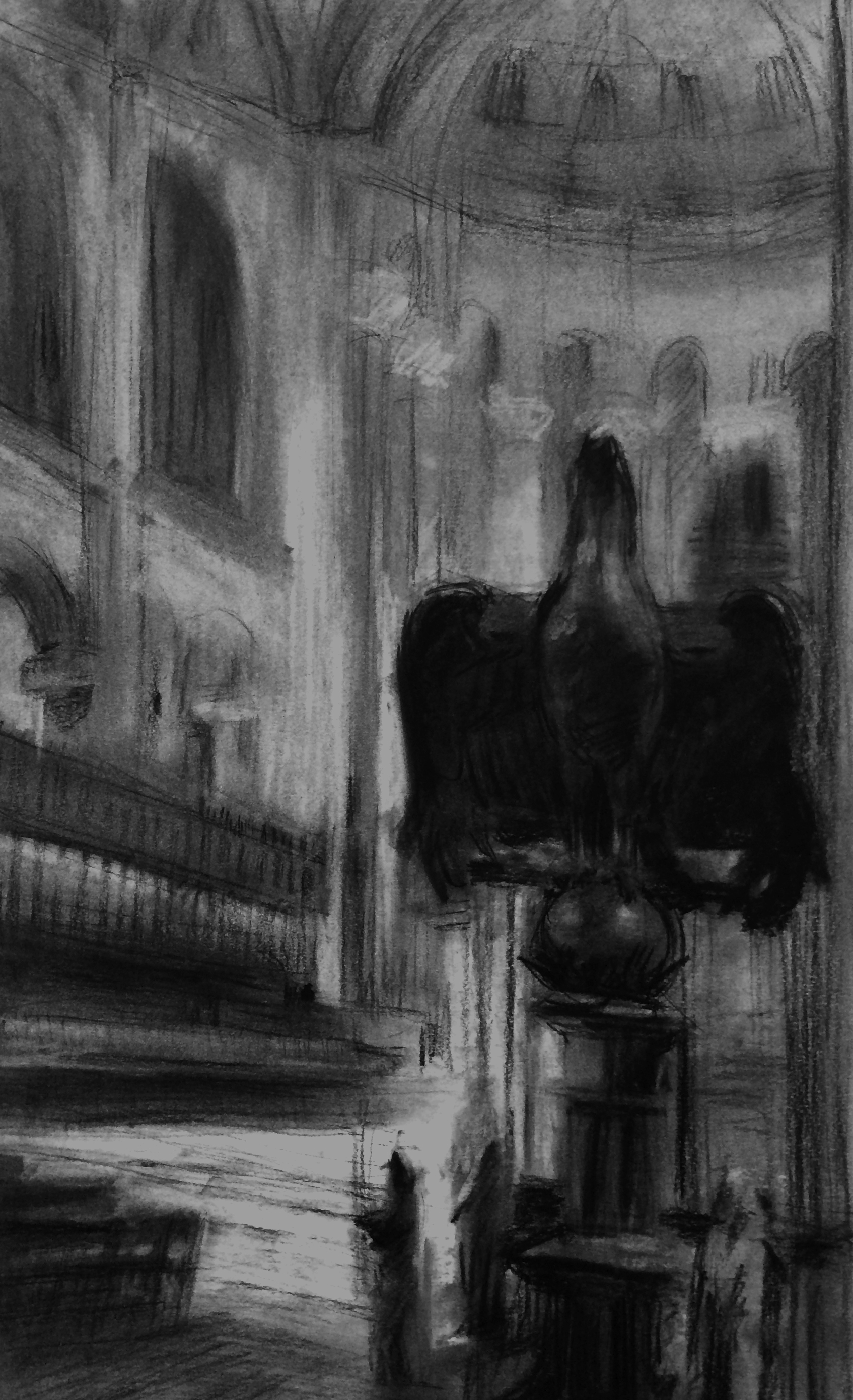 Cathedral of St. John the Divine / 12x19 / Charcoal on Paper / 2014