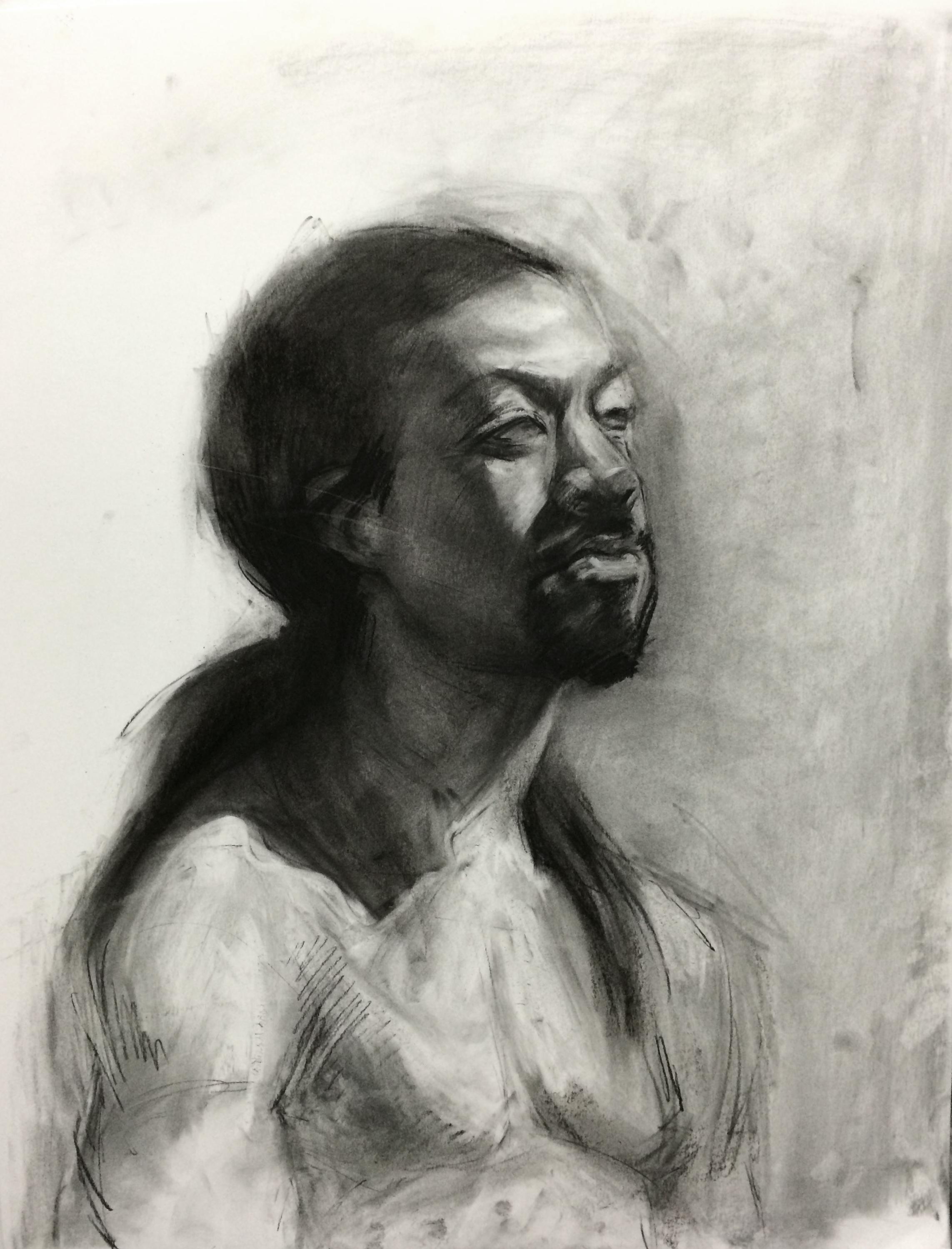 Portrait / 19x24 / Charcoal on Paper / 2015