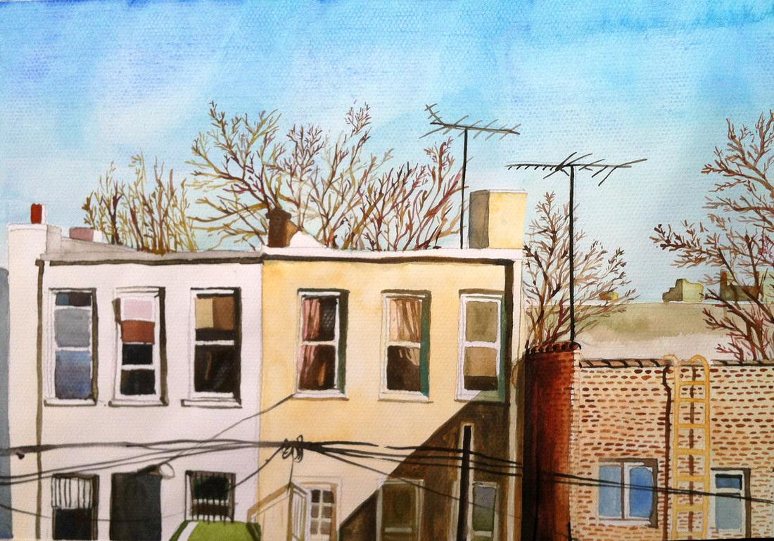 Winter in Brooklyn / Watercolor / 11x14 / 2013