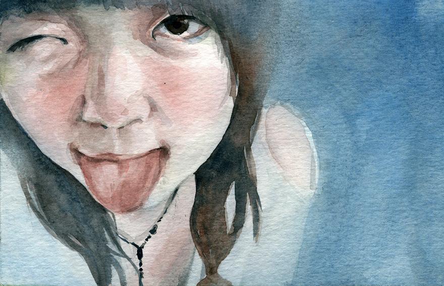 Tong Ning 佟宁 / Watercolor / 4x6 / 2015