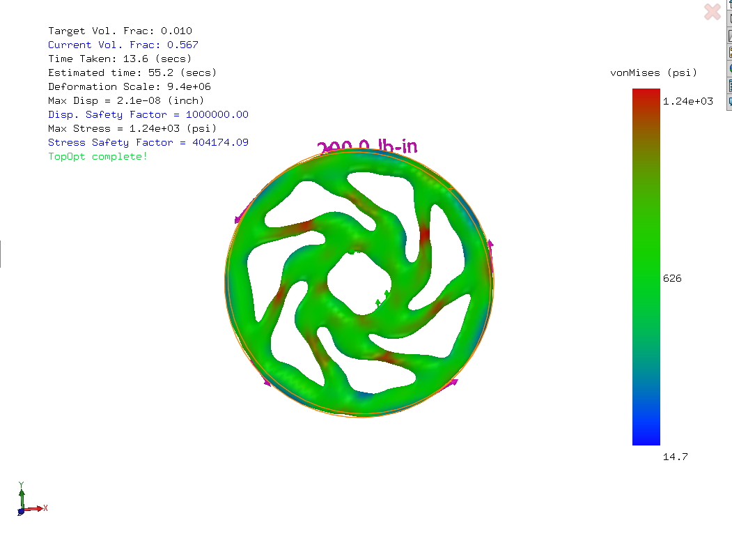 Figure 4 — 7 Lobe Cyclic Symmetry Optimized Model