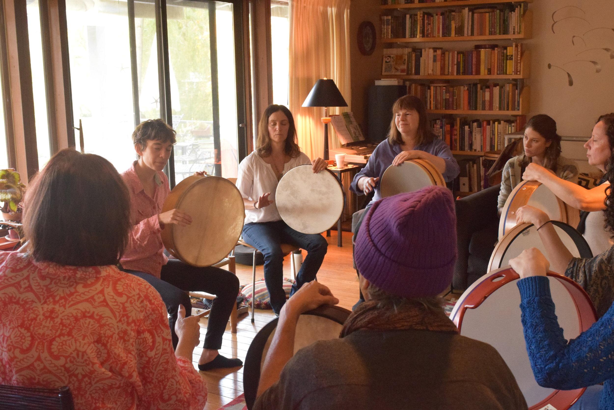 FRAME DRUM - MONDAYS 7-8PM @ Upper West Side, $30This is a women's class for both beginners and intermediate players of the frame drum. We will explore technique of frame drum (open position and lap position), popular rhythms from around the world, improvisation and performance. We will also explore meditation and trance.