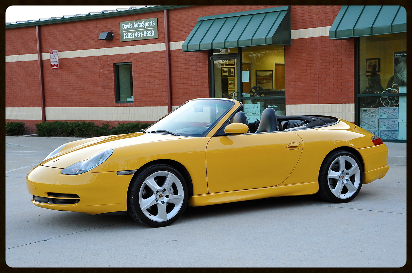 Very RARE 996 C4 Cab in Speed Yellow with Factory Hard Top...Only 38 Produced. Carbon Fiber Package and More