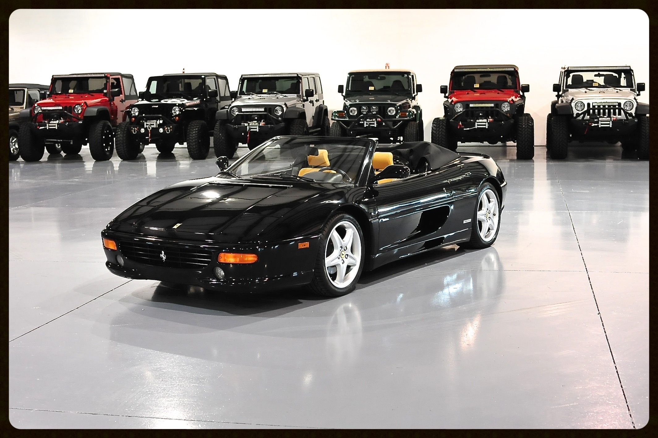 Ferrari 355 Spider with F1 Transmission...Full Service History...Only 17K Miles...Brand New P Zero Tires...Recent Full Paint Correction Service. Click to View