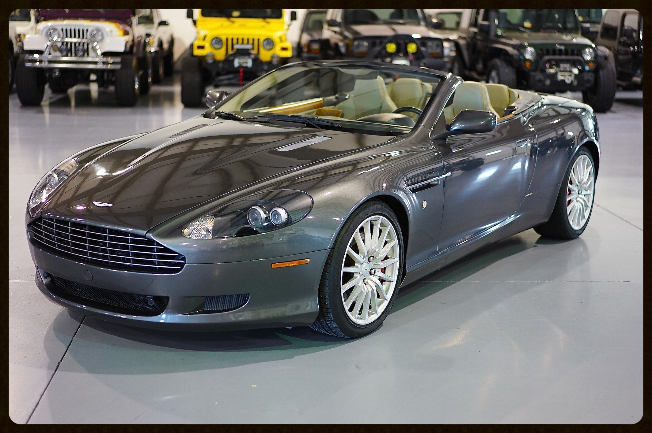 Aston MartinV12...This car is amazing condition and shows amazingly well. Very low miles and dealer serviced since day 1 of Ownership. Just Serviced