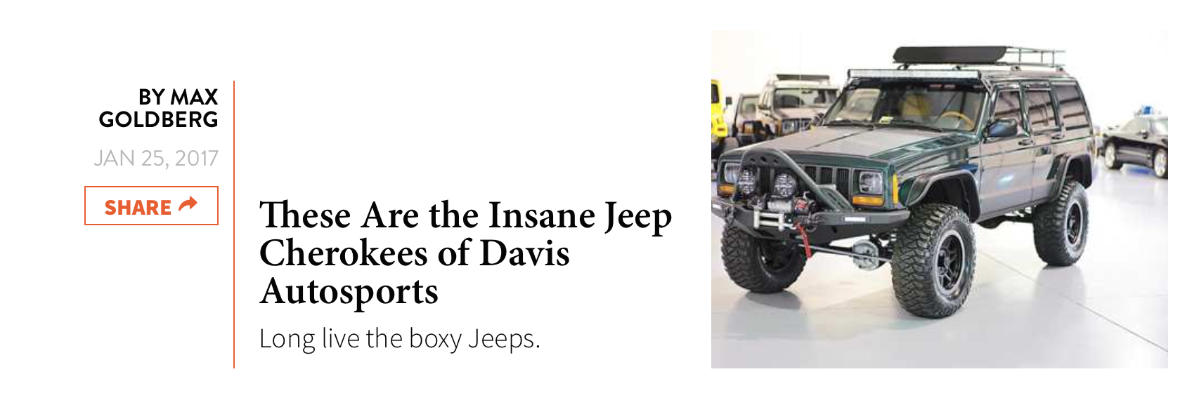 Check Out this National Review on Davis AutoSports by THE DRIVE.
