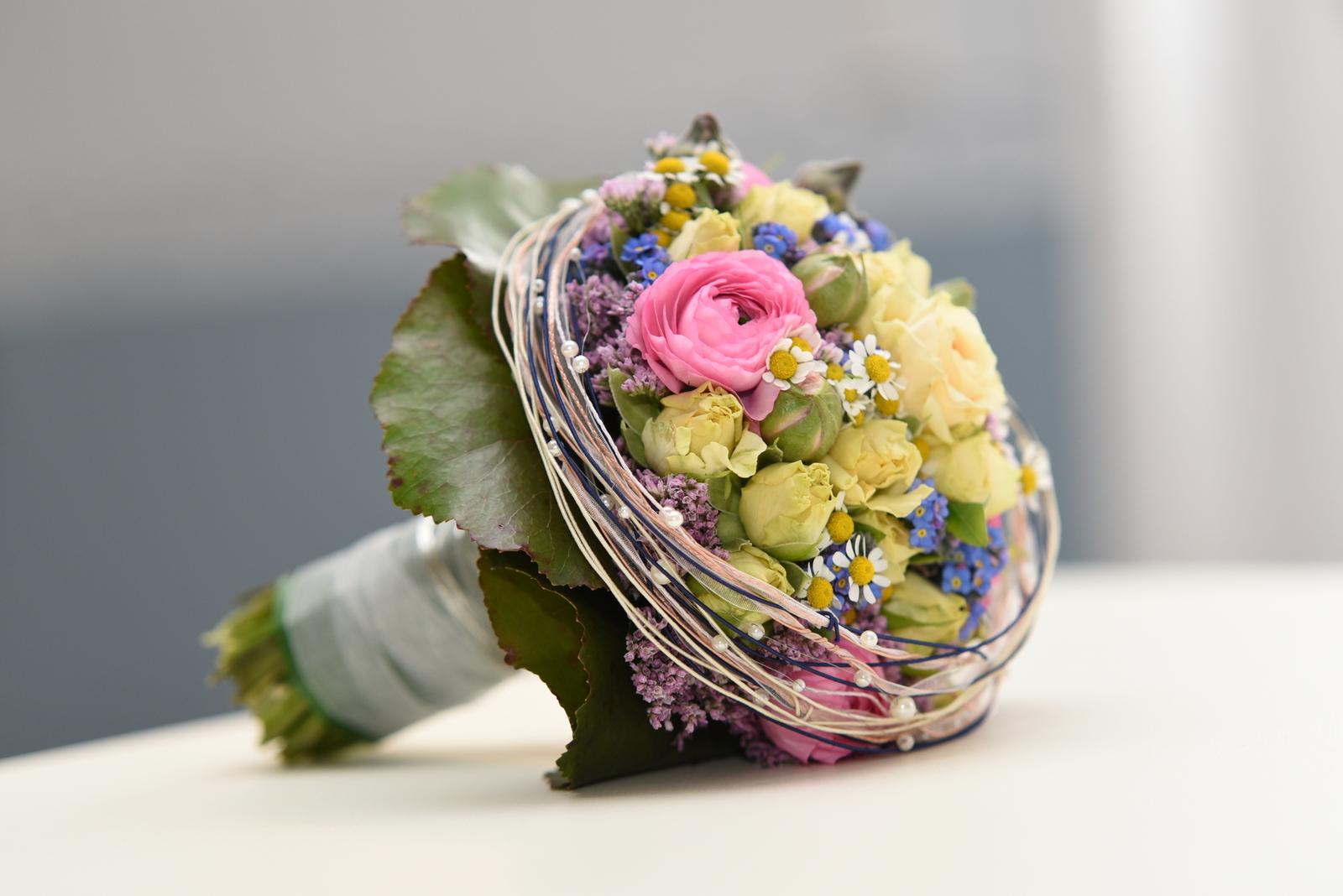 Der wunderschöne Brautstrauß.