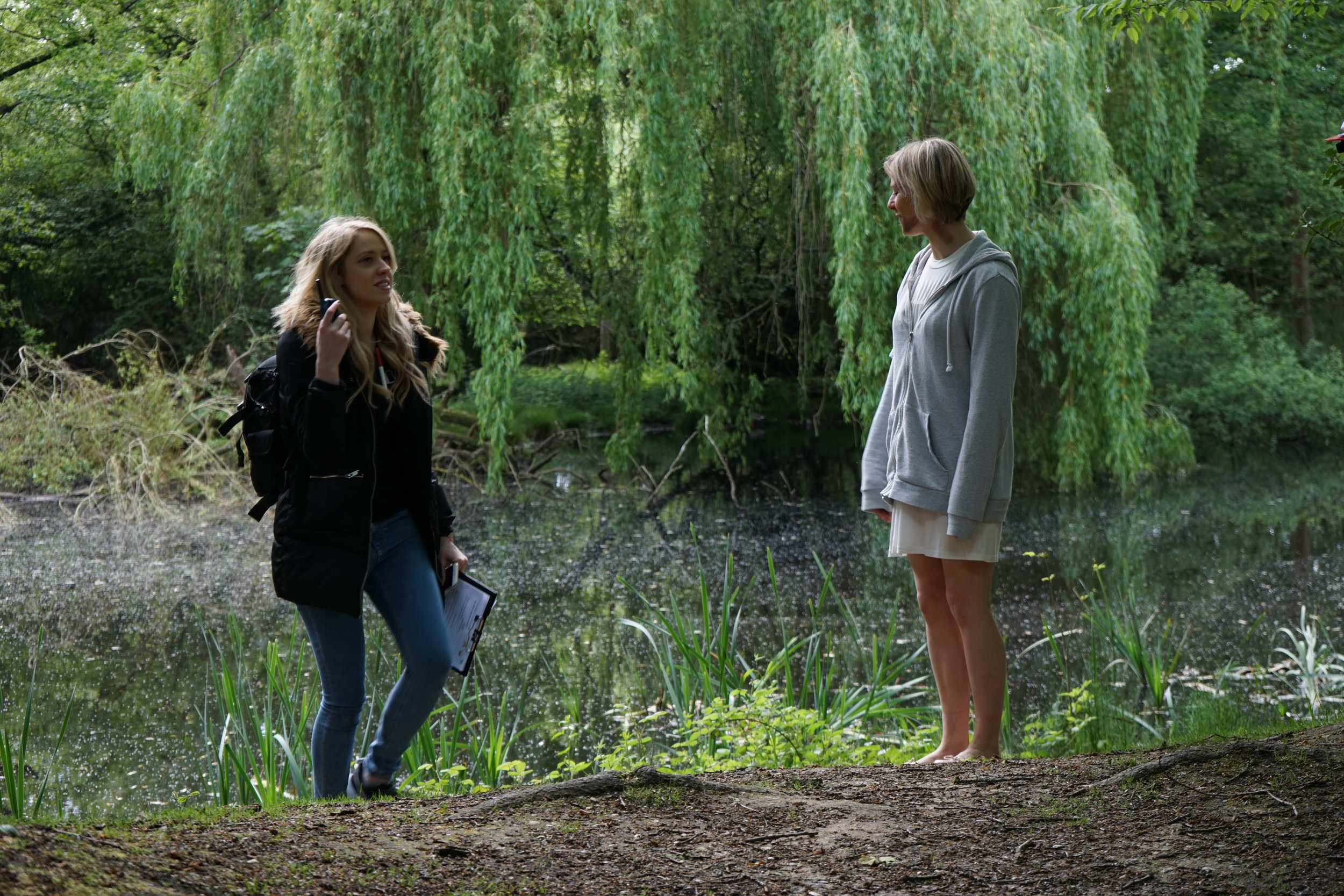 Eleanor on set with director Caris Rianne