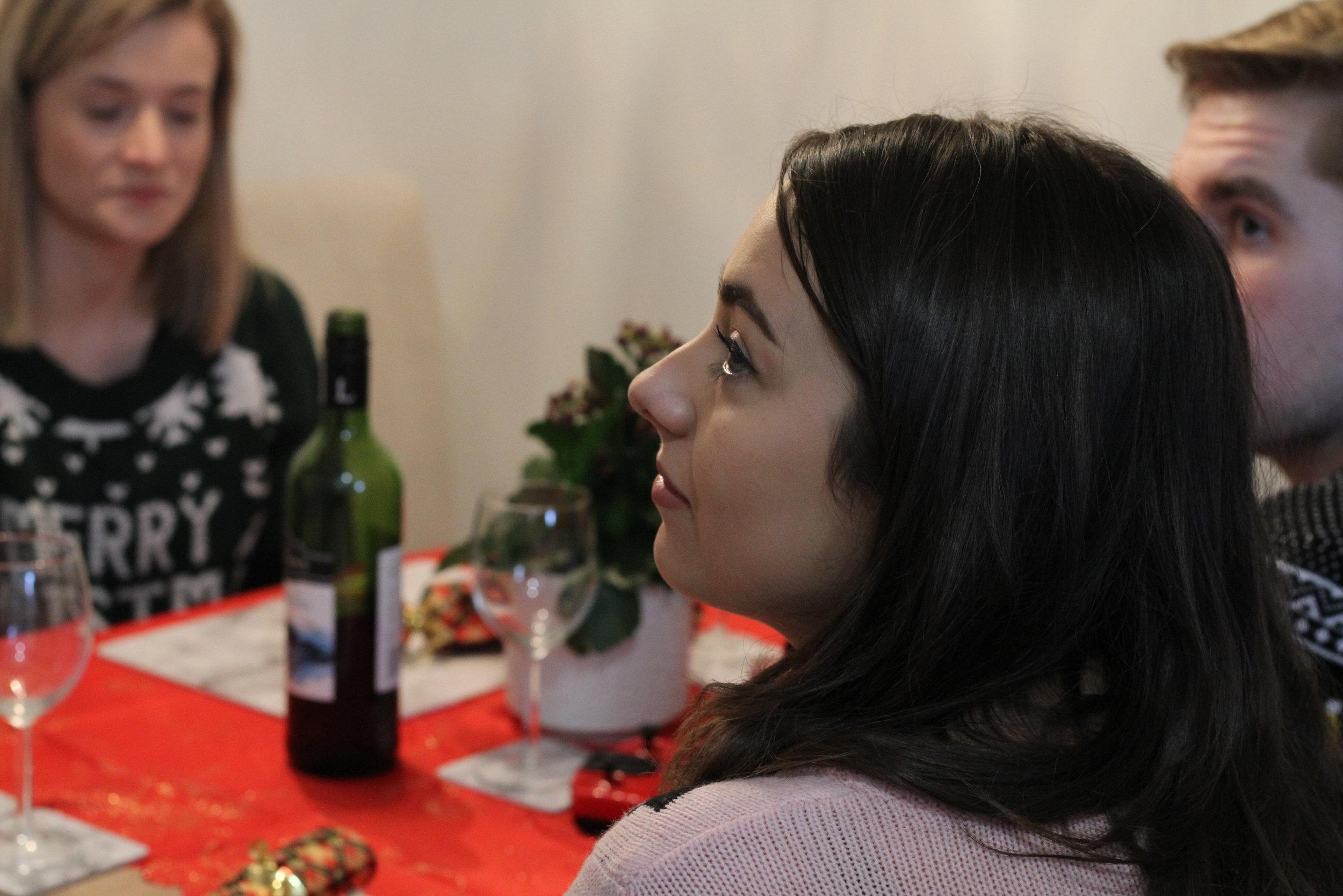Melissa behind the scenes