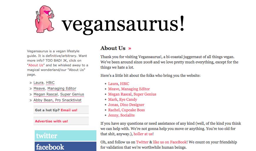 Vegansaurus!