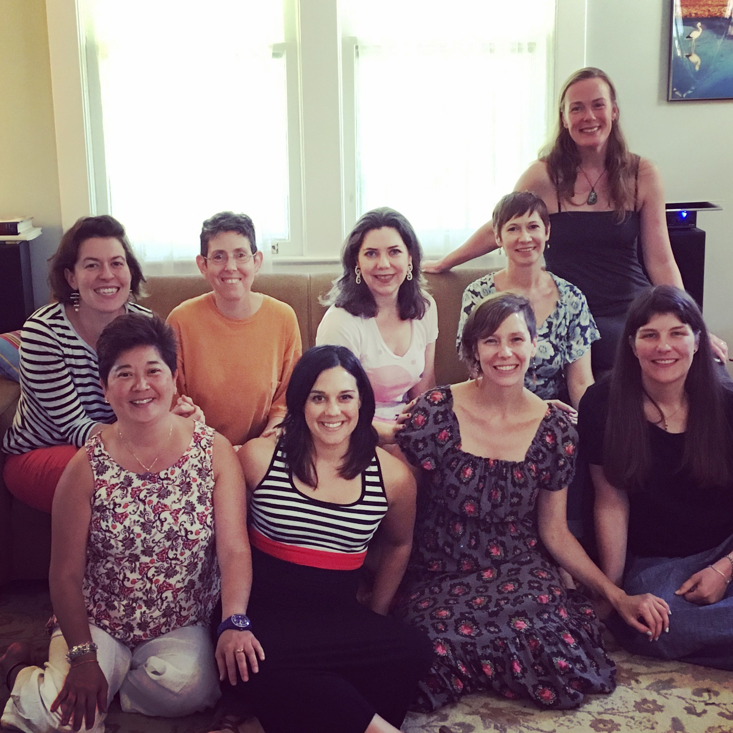 A sweet moment from a brunch reunion with the Self Care 101 Alumni group.