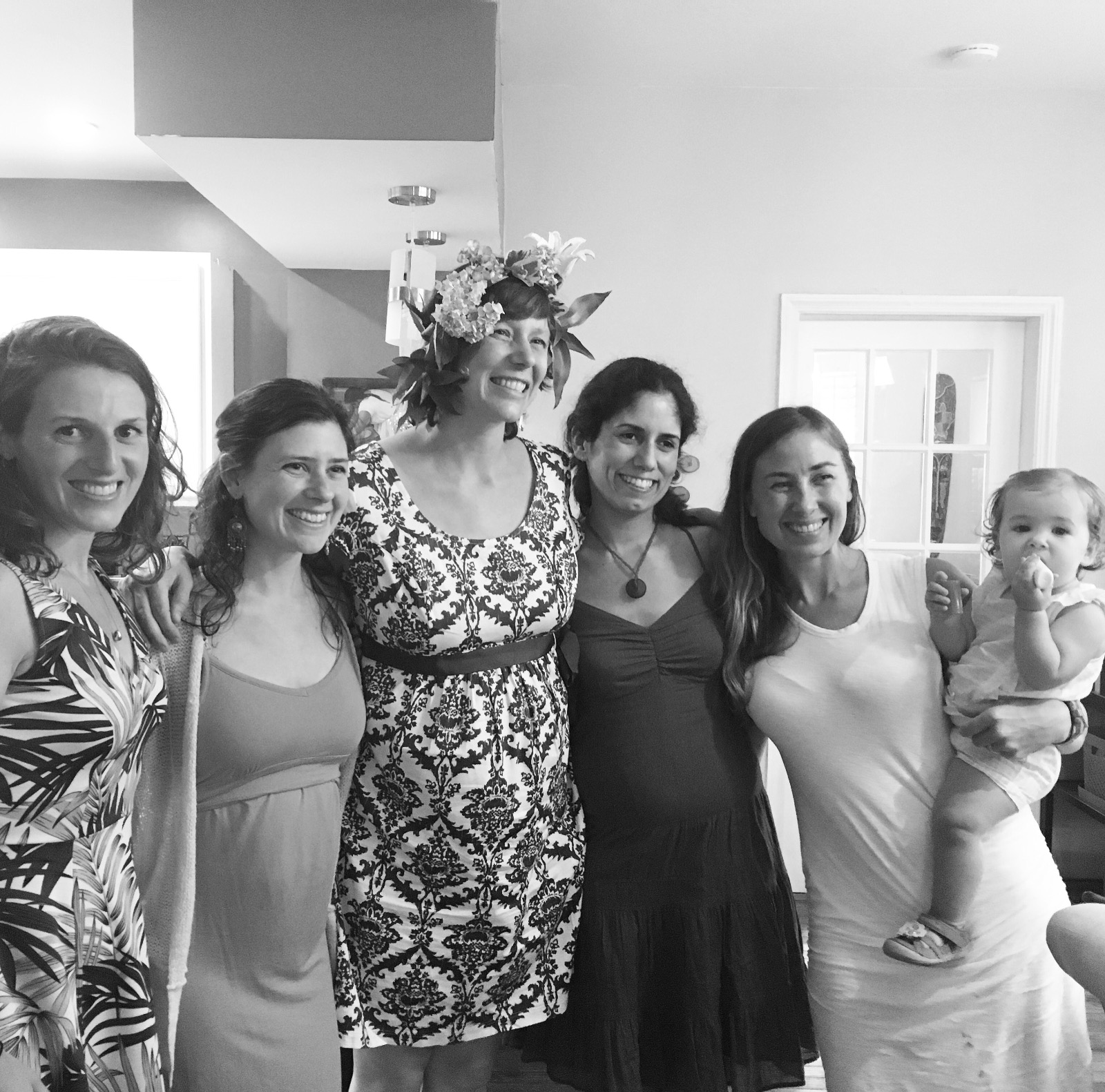 Here I am, enjoying a beautifully imperfect baby shower with some of my favorite ladies in the world.