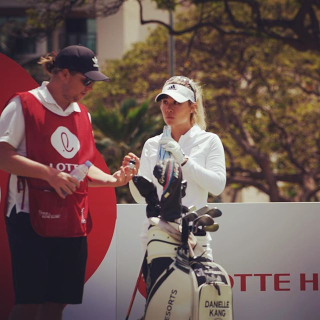 Danielle Kang collected 🐥🐥🐥 on the front nine today (plus 1 👻). Keep those 🐥 coming! #lottechampionship 📷 @topher808