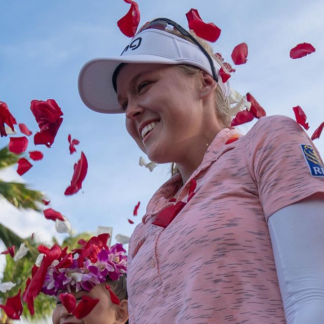 Congratulations @brookehendersongolf our 2018 and 2019 champion! This win is her 8th career victory during the 8th anniversary of the #lottechampionship 📷 @topher808