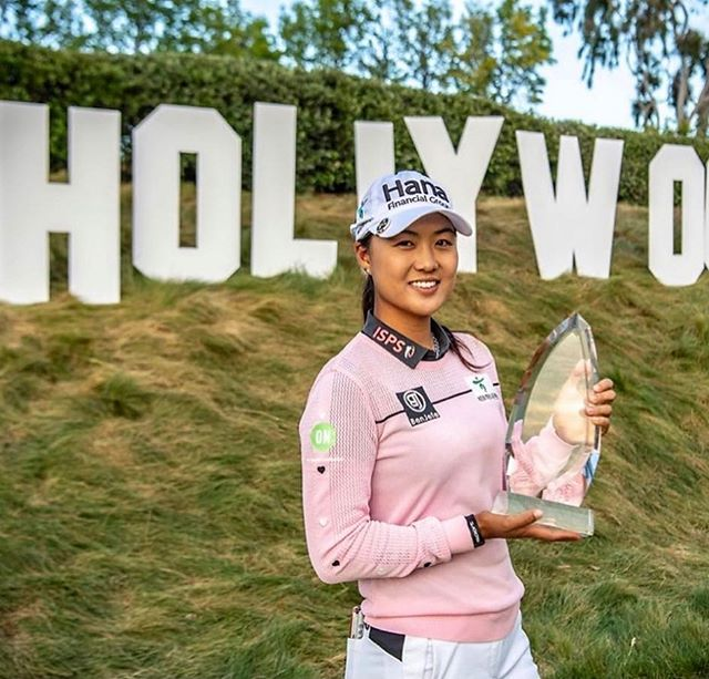 Hula-LA! Congratulations to our 2016 champion Minjee Lee!  From Hawaii to Hollywood...the new @lpga_la champion!  Girl on🔥