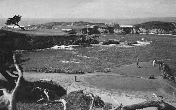 The par-3 16th hole at Cypress Point was designed as a par-four
