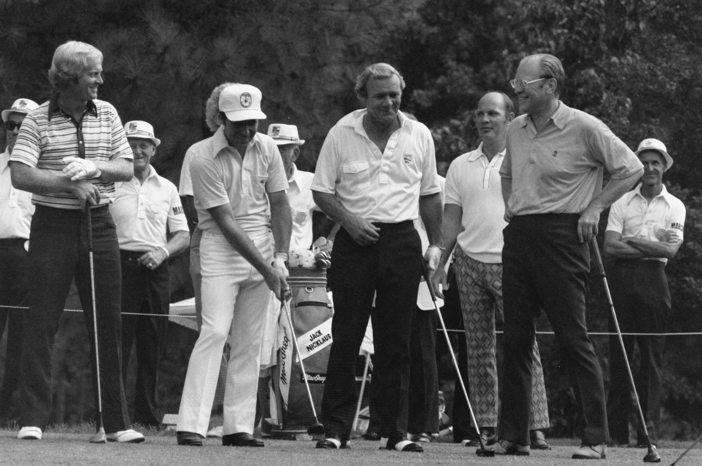New President Gerald Ford put aside state business to fill out this celestial foursome at the opening ceremonies for the World Golf Hall of Fame.