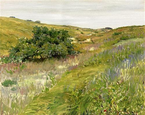 Shinnecock Hills, as depicted by impressionist artist William Merritt Chase in the 1890s, was just waiting for a golf course to be laid upon the landscape.