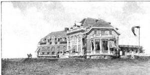 Whitney Warren's sketch for the Newport clubhouse.