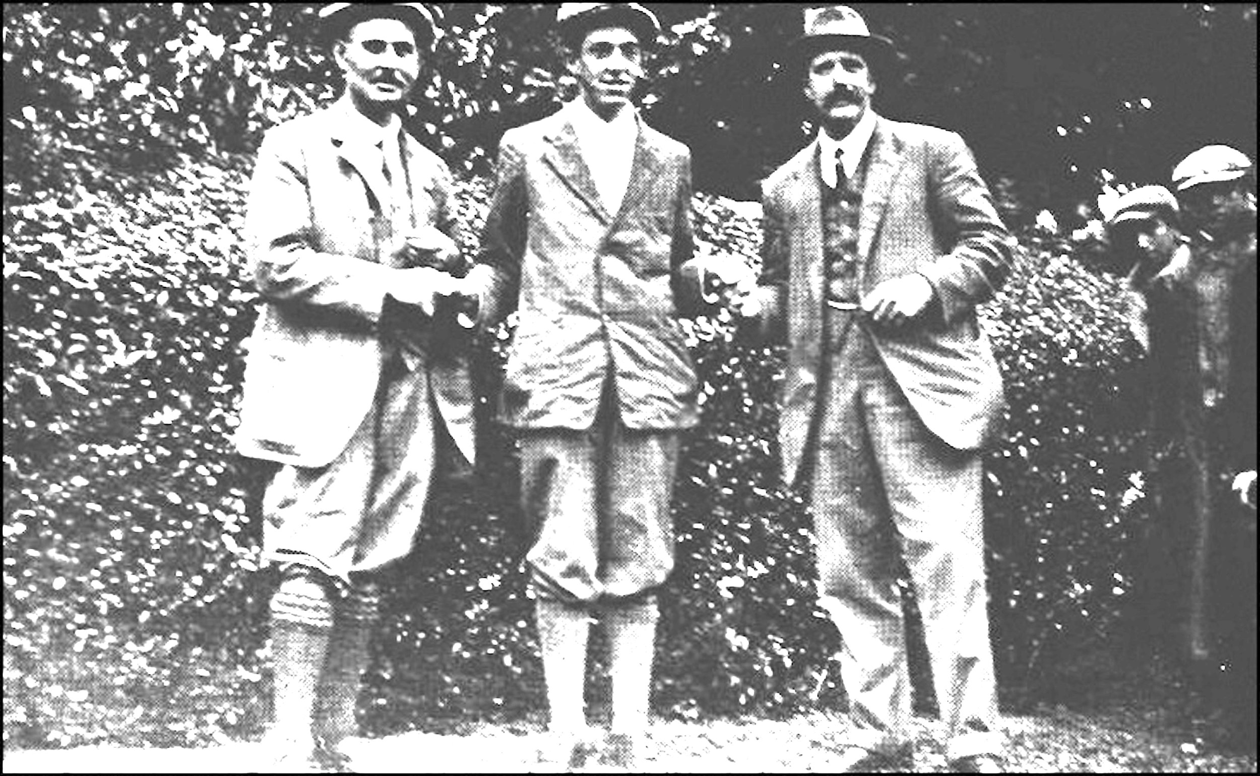 Harry Vardon, Francis Ouimet and Ted Ray at the 1913 U.S. Open.