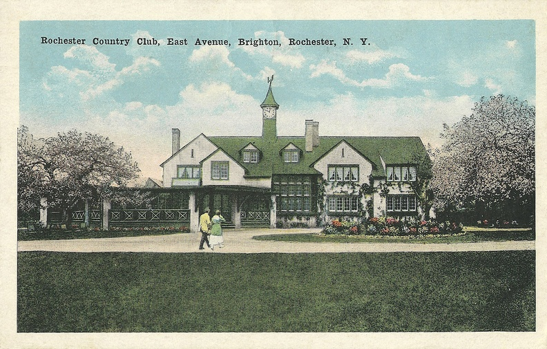 The Country Club of Rochester as it looked in Walter Hagen's Day.