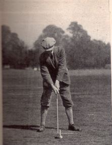 Abe Mitchell provided the model for the golfer atop the Ryder Cup.