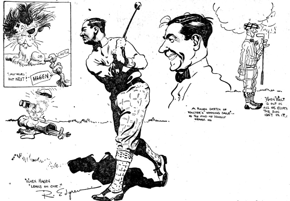 Walter Hagen was a favorite of golfing fans and cartoonists during the Roaring Twenties.