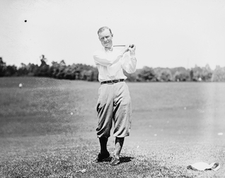 Chick Evans was the first player to win the United States Open and the United States Amateur championships in the same year.