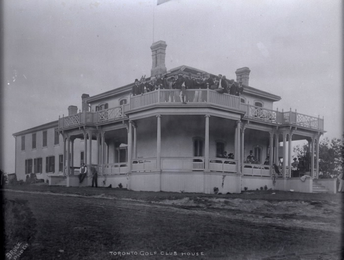 "The original clubhouse at the Toronto Golf Club was a deserted mansion known around town as the ""haunted house."""
