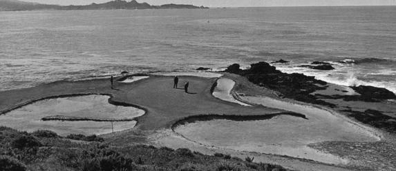 The original 7th hole at Pebble Beach.