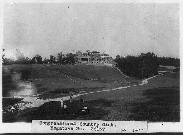 Play went on at Congressional as America's largest clubhouse was being readied.