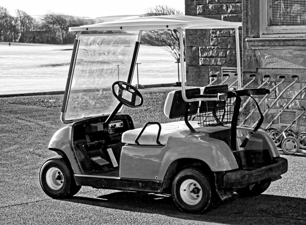 When George May looked into golf's future he saw motorized cars.
