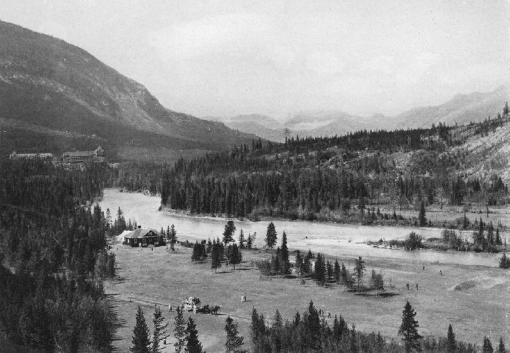 Stanley Thompson laid out the Banff Springs golf course along the glacier-fed Bow River.